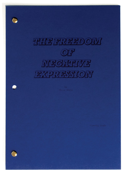 The Freedom of Negative Expression - script