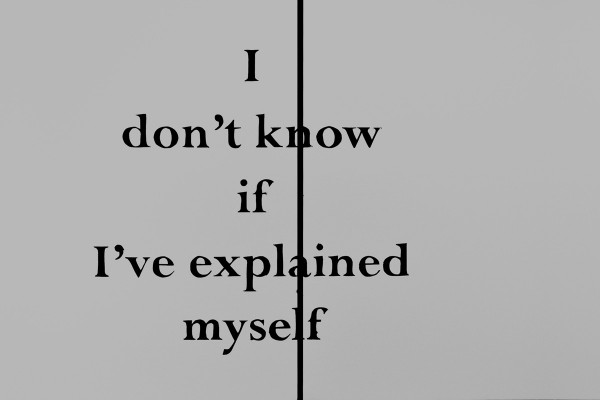 I don't know if I've explained myself